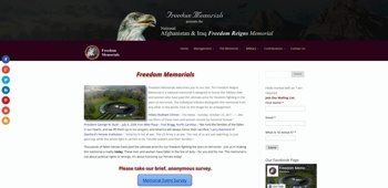 Freedom Memorials Home Page