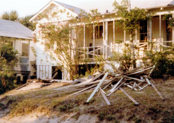 Renovation of Folly Beach house - 1978