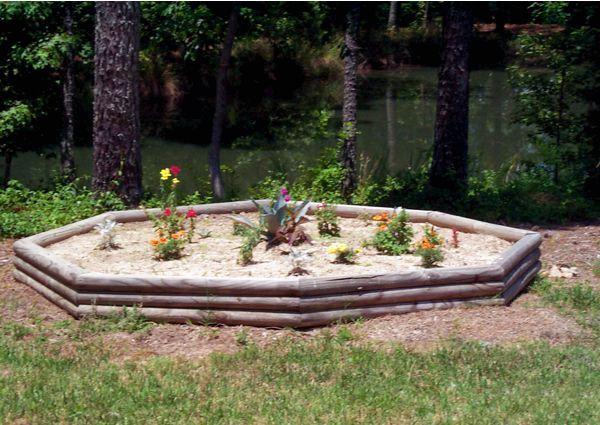 Landscape timber planter - 2003