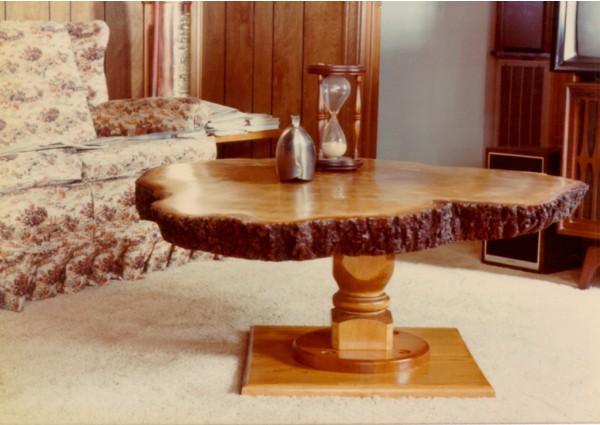 Pine tree slab table - 1979
