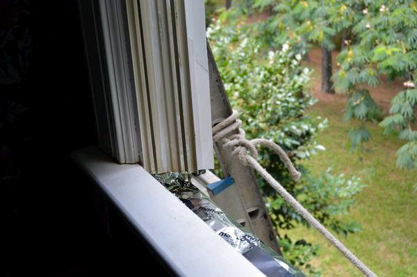 Window sill repair.