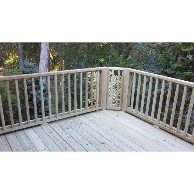 Deck corner before handrail.