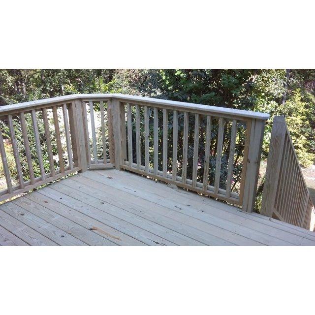 Deck corner with 5/4 x 6 handrail added.